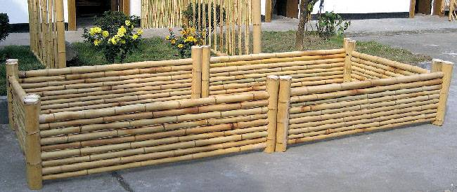 Bamboo Planter And Stand For Flower Plant And Nursery