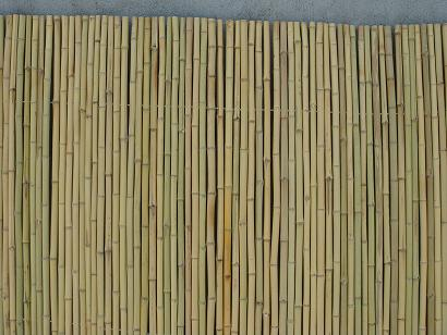 rolled bamboo fence natural